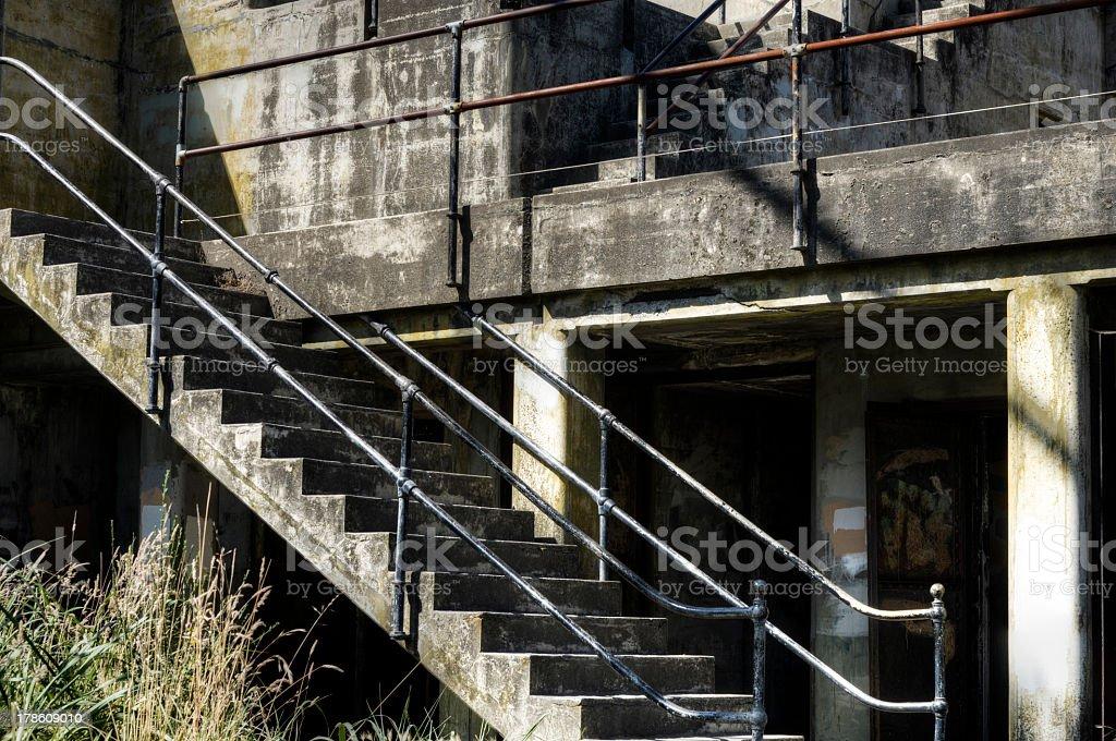 Bunker at Fort Worden Washington stock photo