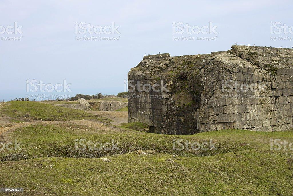 Bunker at Poite Du Hoc stock photo