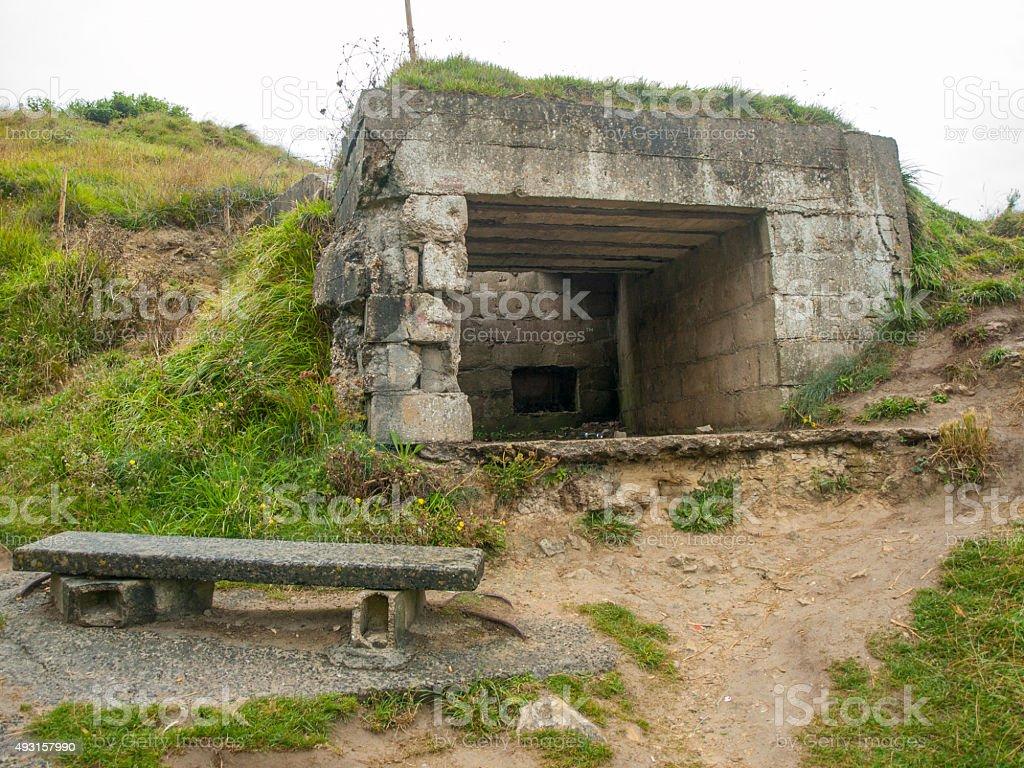 Bunker de la segunda guerra mundial. Second World War Bunker stock photo