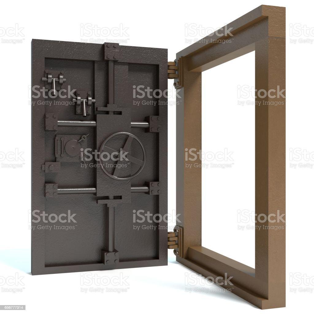 Bunker Door stock photo
