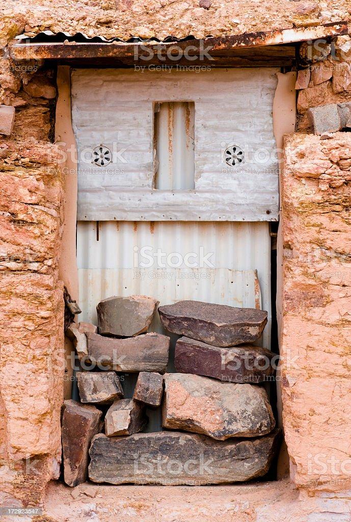 Bunker Doorway stock photo