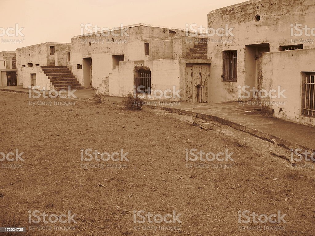 Bunker Gun Emplacements Fort Barry Cronkhite stock photo