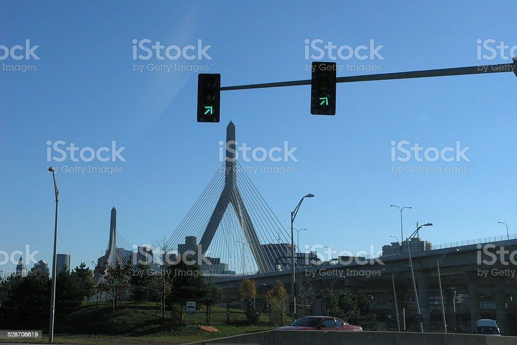 Bunker Hill Memorial Bridge stock photo