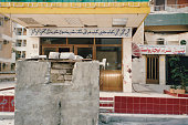 Bunker in streets of Kuwait City, Persian Gulf War