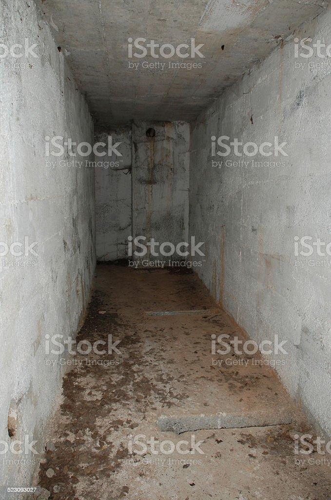 Bunker in the Carso stock photo