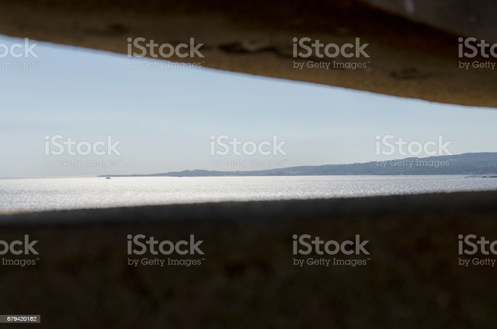 Bunker of WWII stock photo