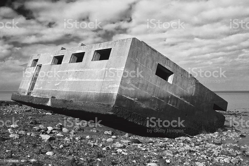 WWI bunker stock photo