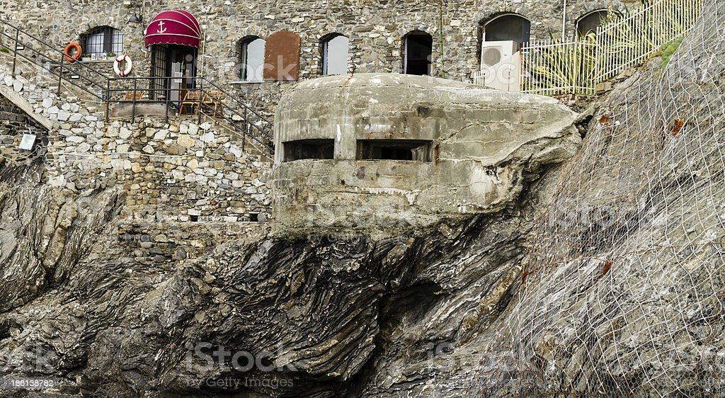 Bunker, World War II, Italy royalty-free stock photo