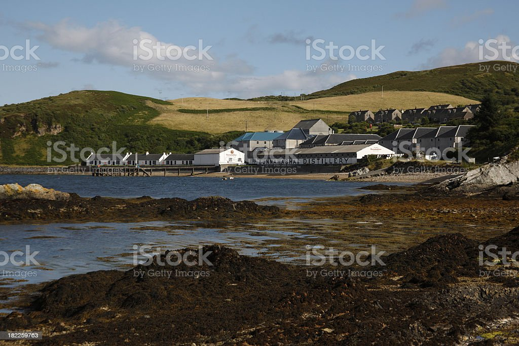 Bunnahabhain distillery stock photo