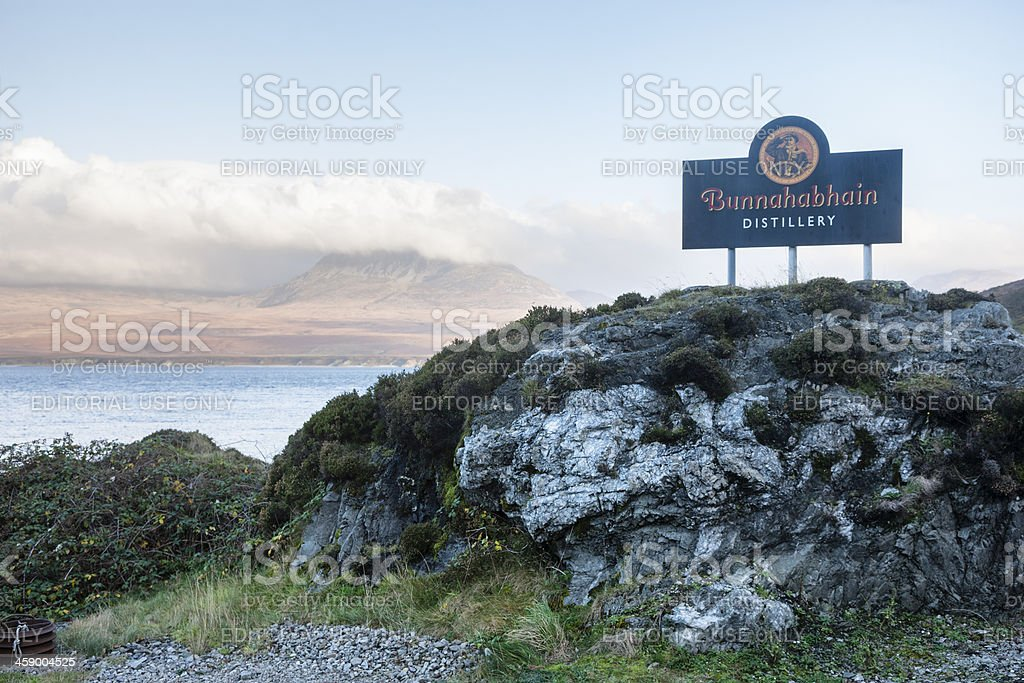 Bunnahabhain Distillery royalty-free stock photo