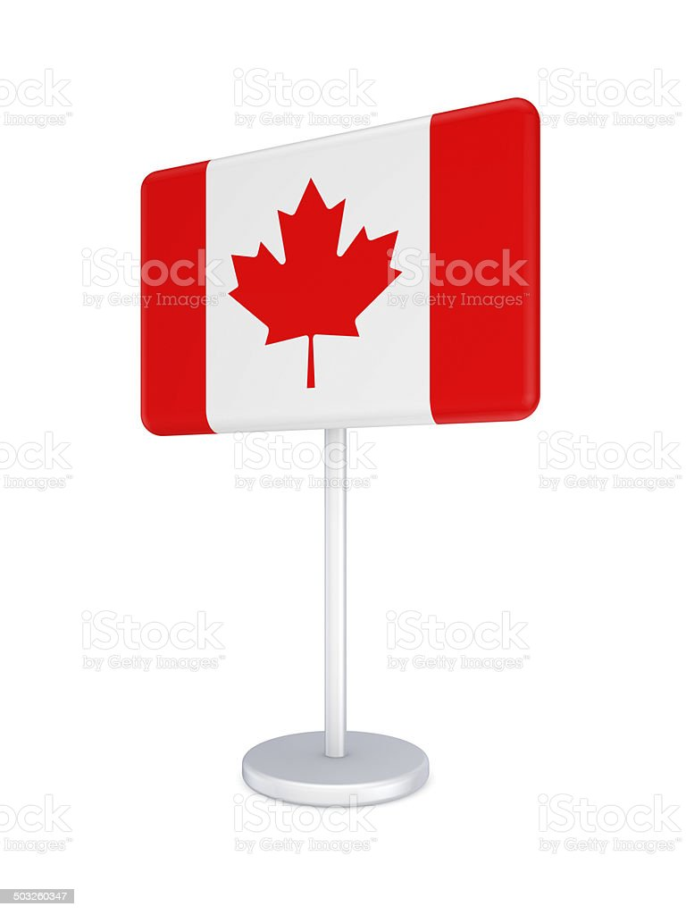 Bunner with flag of Canada. royalty-free stock photo
