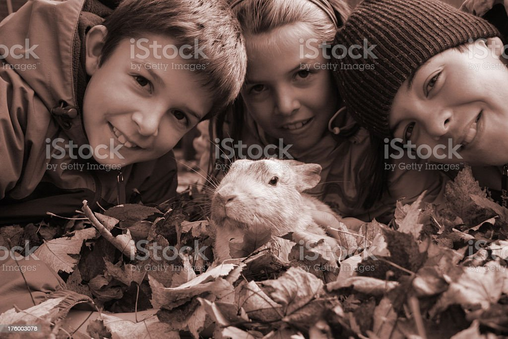 Bunny and children royalty-free stock photo