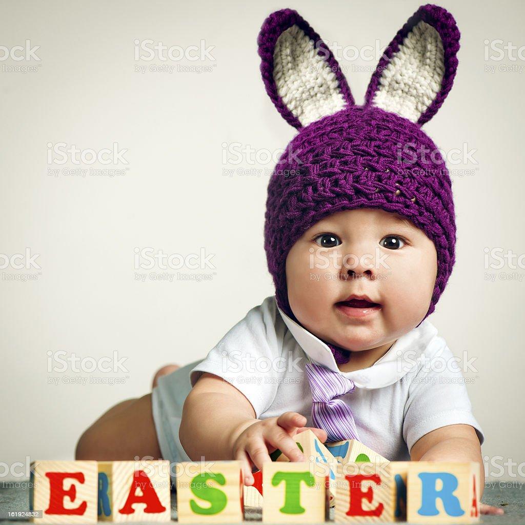 Bunny babe stock photo