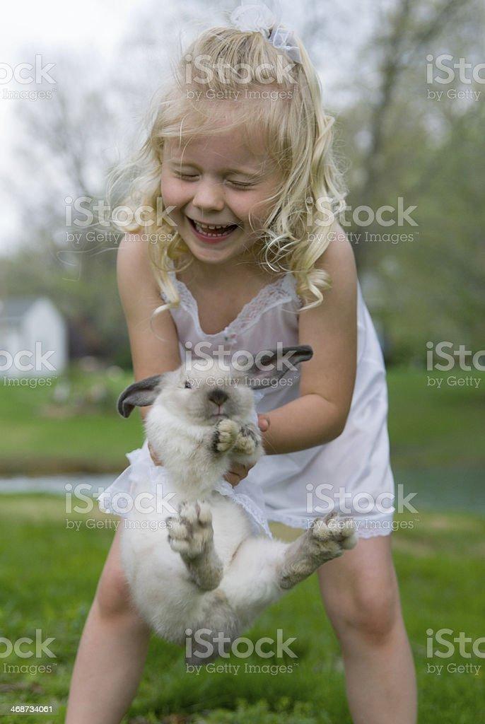 Bunny breaks away stock photo