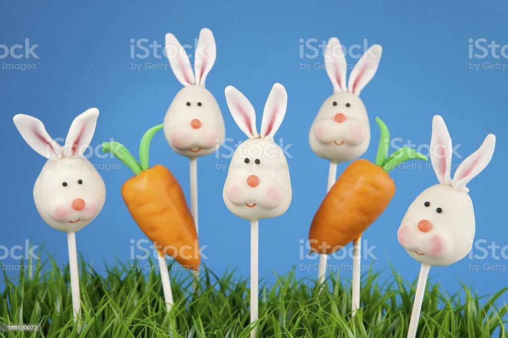Bunny cake pops royalty-free stock photo