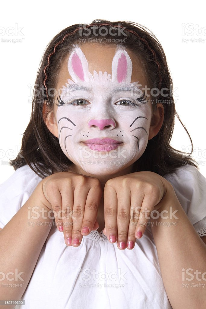 Bunny Face Paint royalty-free stock photo