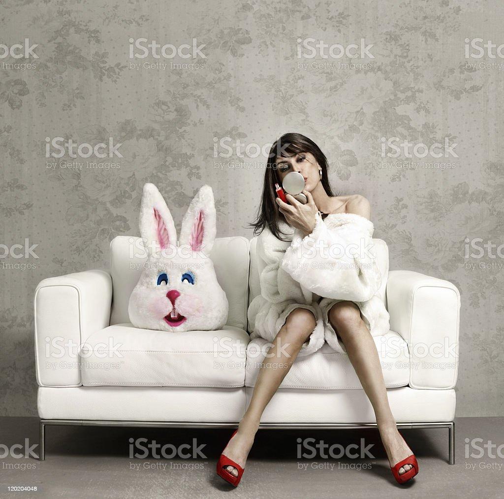 Bunny job done royalty-free stock photo