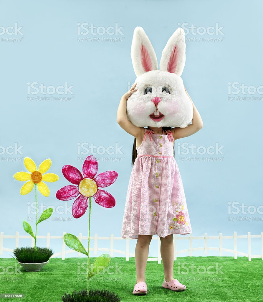 Bunny Little Girl stock photo