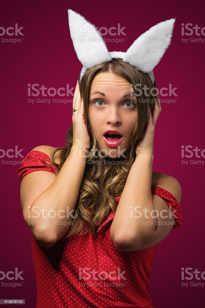 Bunny mania stock photo