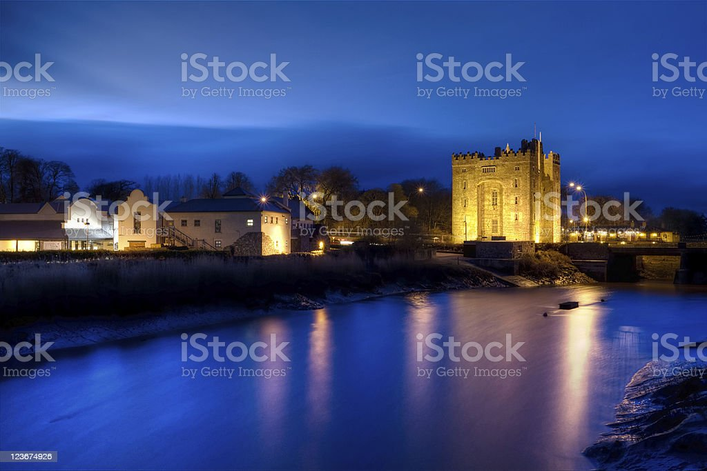 Bunratty castle at night - HDR stock photo