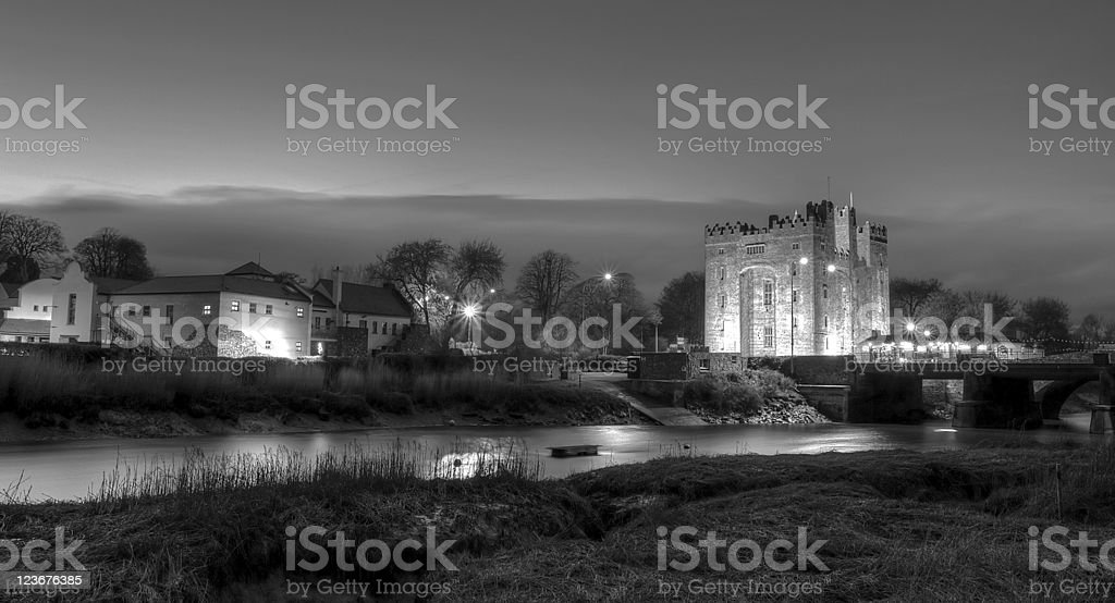Bunratty castle at night stock photo