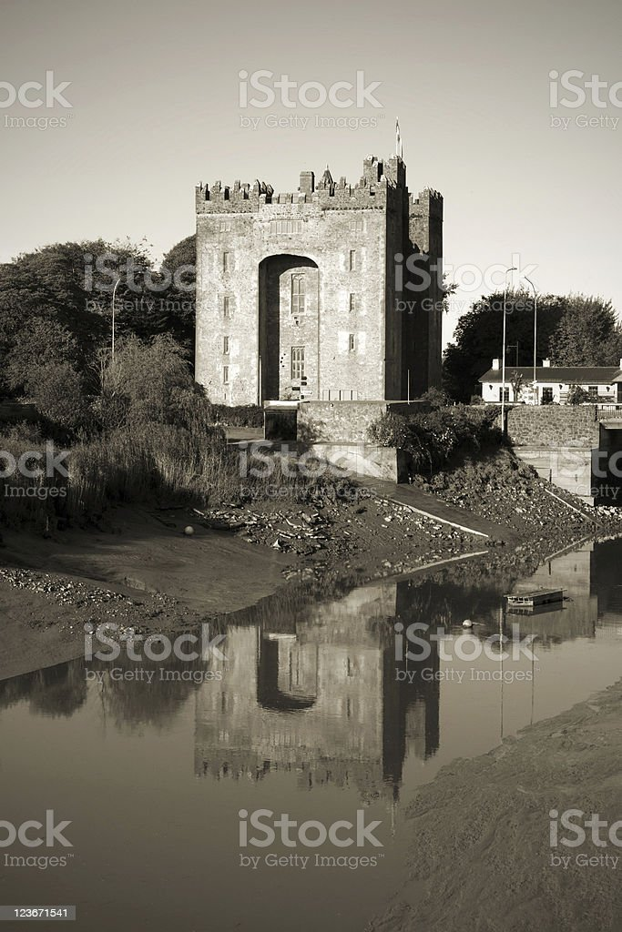 Bunratty castle B&W stock photo
