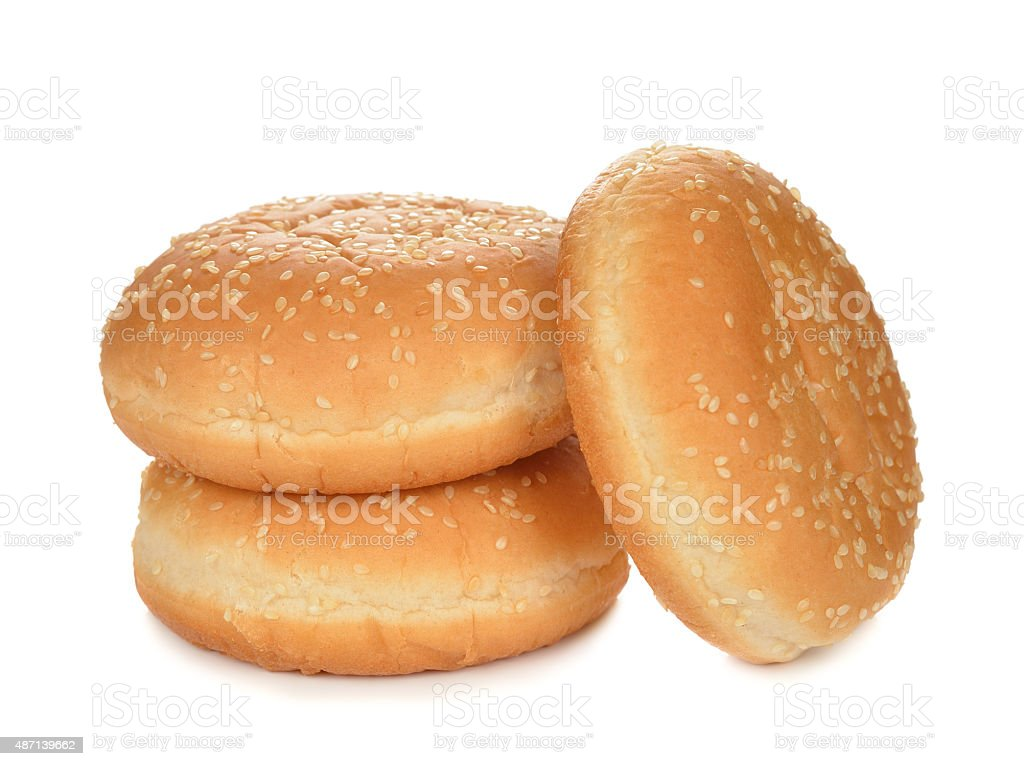 Buns for burgers stock photo