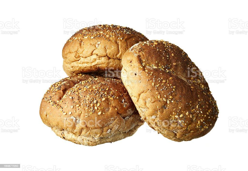 buns on white background royalty-free stock photo