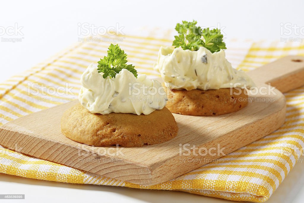 buns with herb butter royalty-free stock photo