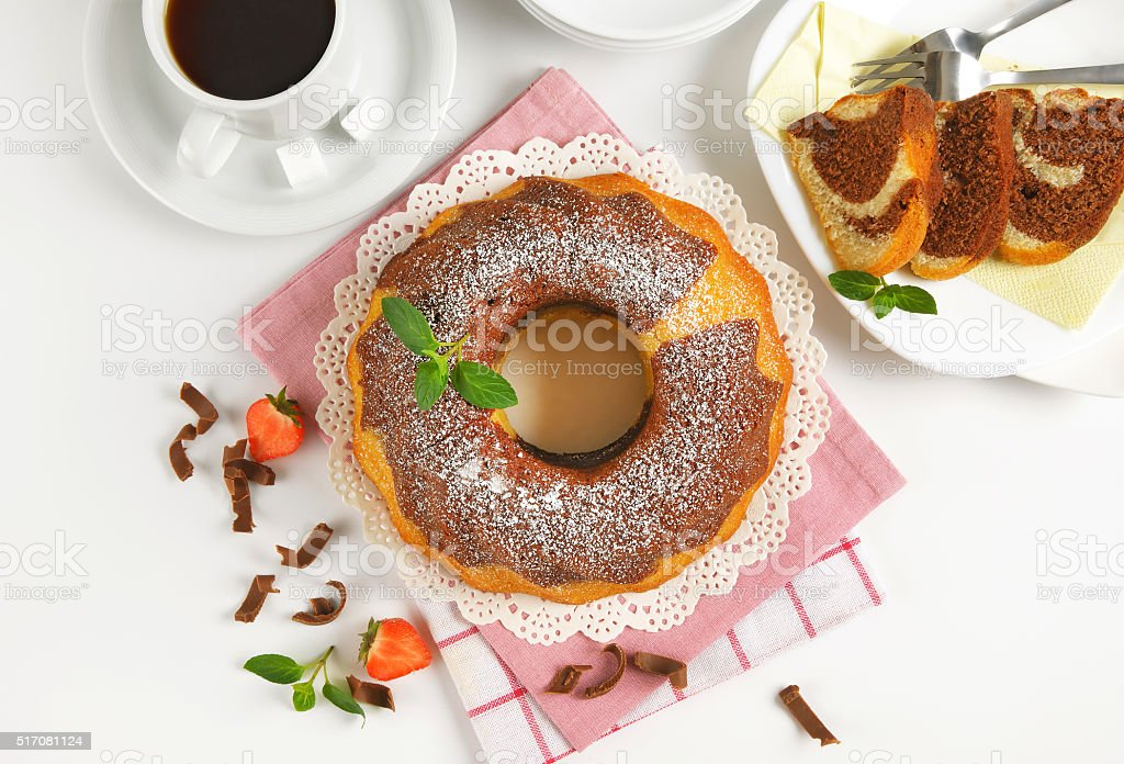 Bunt cake stock photo