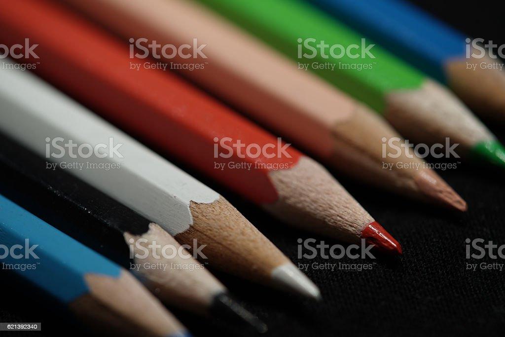 bunte Bleistifte stock photo