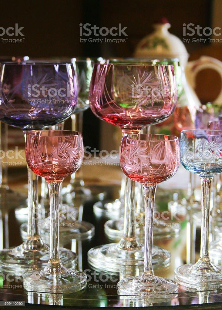 bunte Gläser stock photo