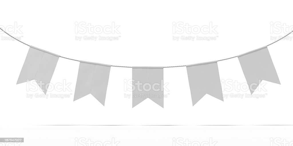 Bunting Banner Garland stock photo