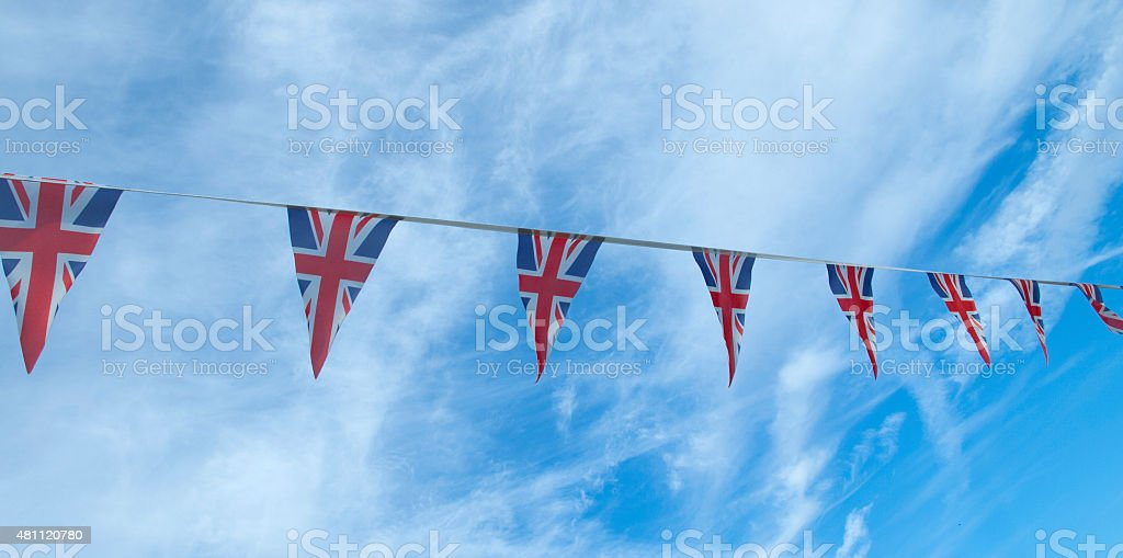 Bunting celebration - Union Jack stock photo