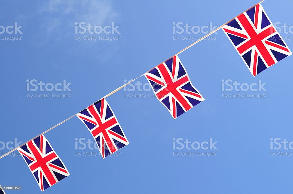Bunting decoration, Jersey. royalty-free stock photo