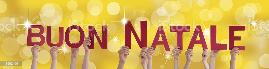 Buon Natale on Festive Background royalty-free stock photo