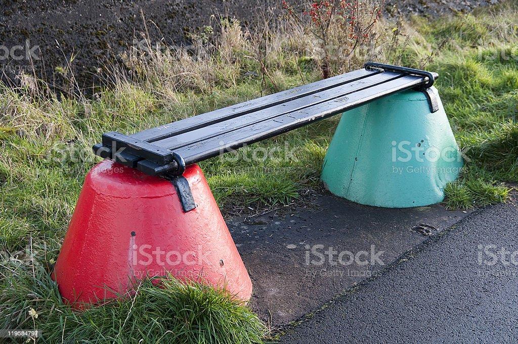 Buoy bench royalty-free stock photo