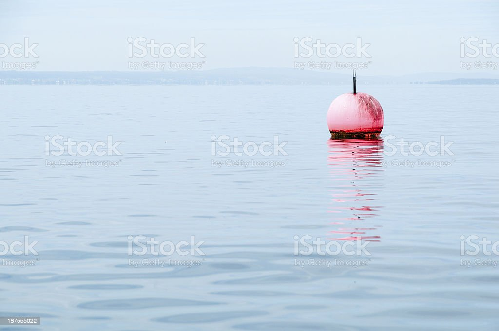 Buoy in Lake Constance, Friedrichshafen, southern Germany royalty-free stock photo