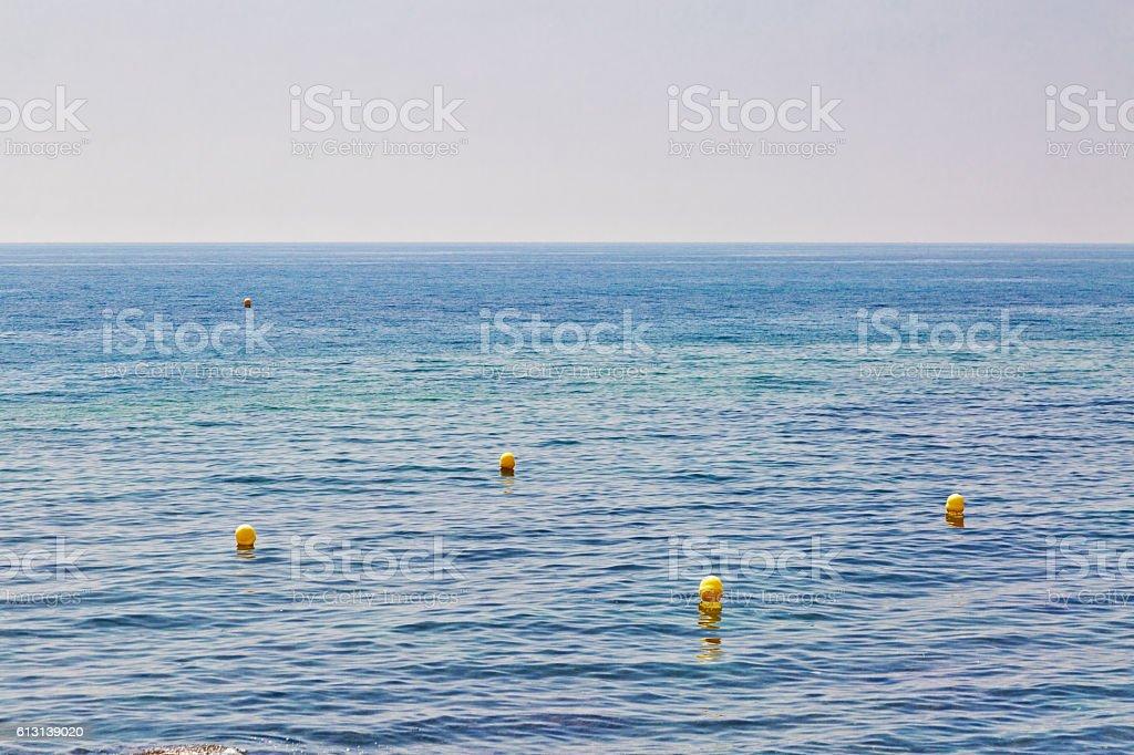 buoyы in the sea stock photo