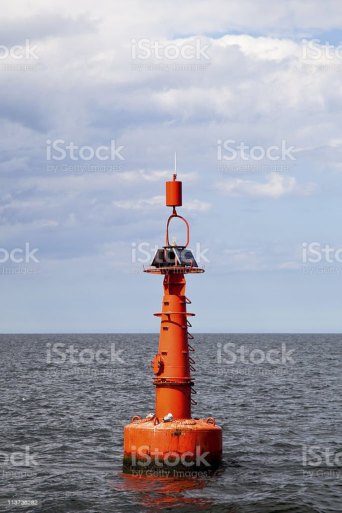 Buoy on the water royalty-free stock photo