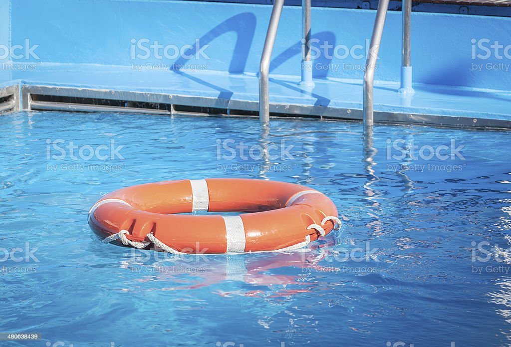 Buoy On Water Pool royalty-free stock photo