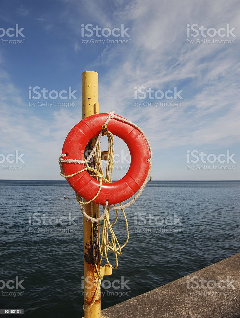 Buoy, Perspective royalty-free stock photo