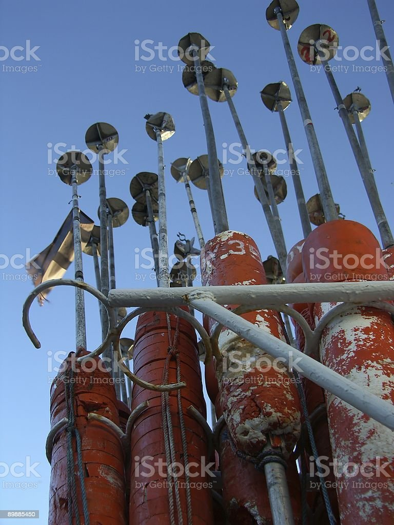 Buoy storage royalty-free stock photo