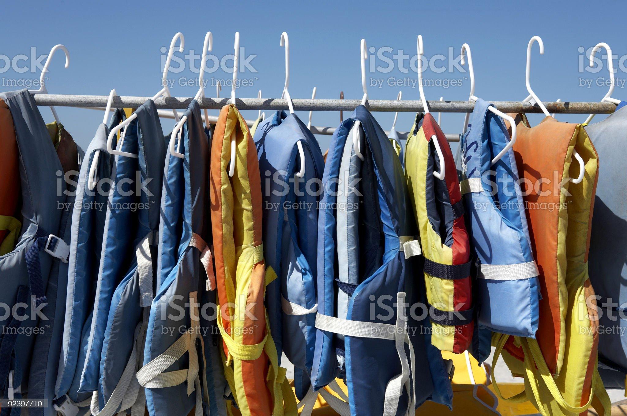 Buoyancy jackets royalty-free stock photo