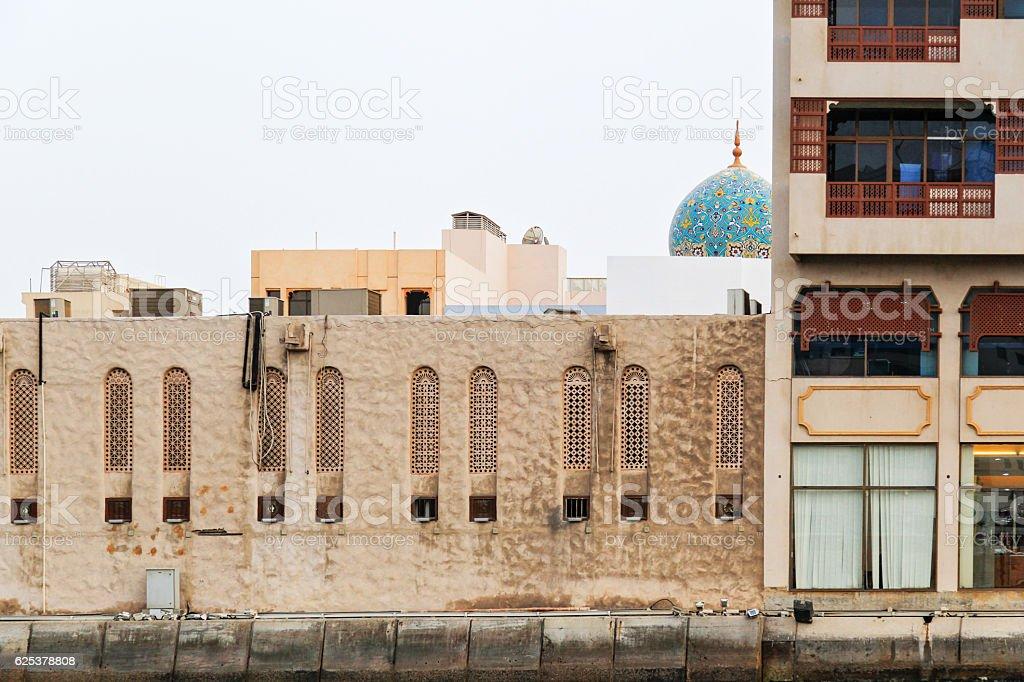 Bur Dubai Mosque stock photo