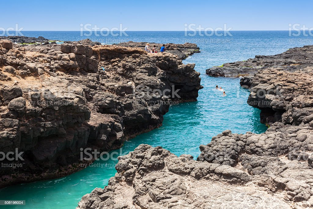 Buracona  in Sal Island Cape Verde - Cabo Verde stock photo