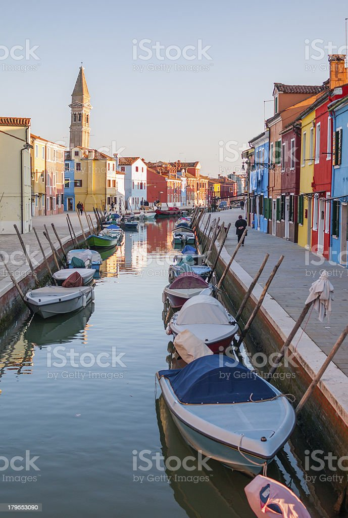 Burano Canal royalty-free stock photo