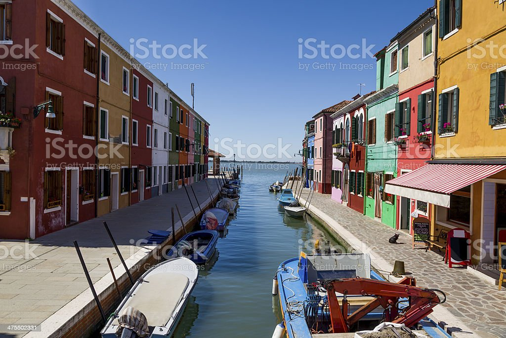 Burano canal royalty-free stock photo