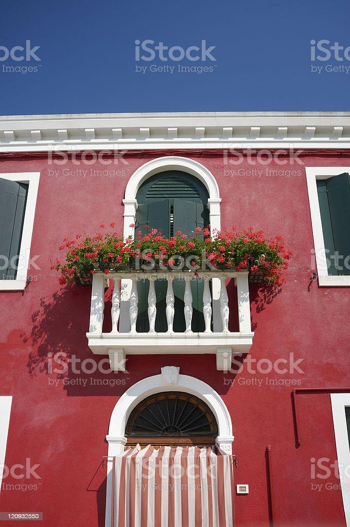 Burano House stock photo