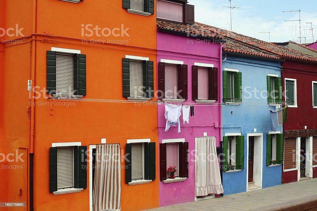 Burano houses royalty-free stock photo